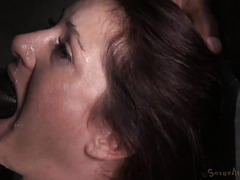 Brunette was in a constant state of achieving orgasms from rough pleasuring