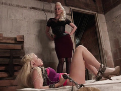 Bitchy baddie barbie receives rough and wicked punishment from tough mistress