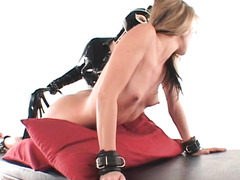 Lesbo mistress teasing sex slave wet pussy