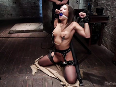 Young slave chick enjoys getting fucked and dominated during her training