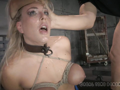 Beautiful big boobs blonde needs to learn how to be a good cock sucking whore