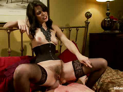 Attractive mistress demands only total submission from handsome slave stud