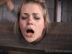 Atrocious flogging and caning punishment for blonde babe's sexy bottoms