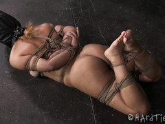 Petite blonde in sexy high heels becomes master's rag doll by surrendering her body