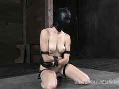 Beautiful redhead beauty receives lusty whipping and boxing from tough master