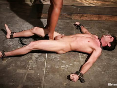 Tough black mistress punishes white stud with relentless anal jamming