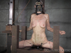 Extremely painful punishment for mature brunette's smoking hot slim body