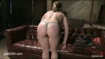 a babe returns for some bondage and orgasms
